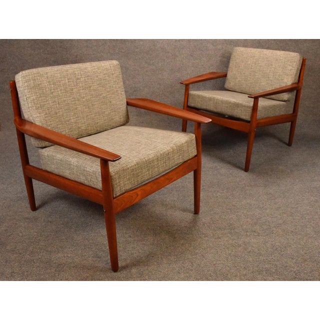 Gray 1960s Scandinavian Modern Arne Vodder Teak Lounge Chairs - a Pair For Sale - Image 8 of 11