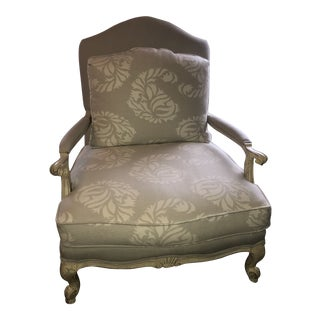 Traditional Light Gray Wool Bergere For Sale