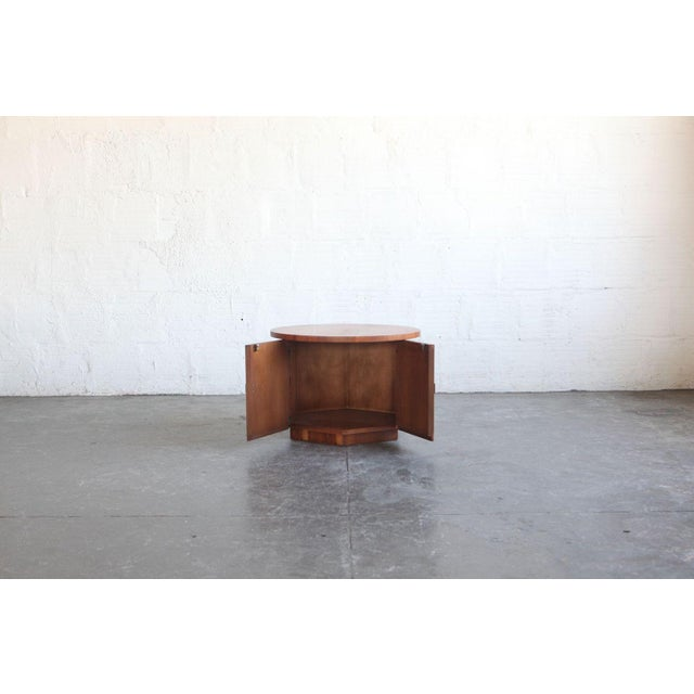 Modern 1960s Modern Teak Hexagon Side Table/Cabinet For Sale - Image 3 of 6