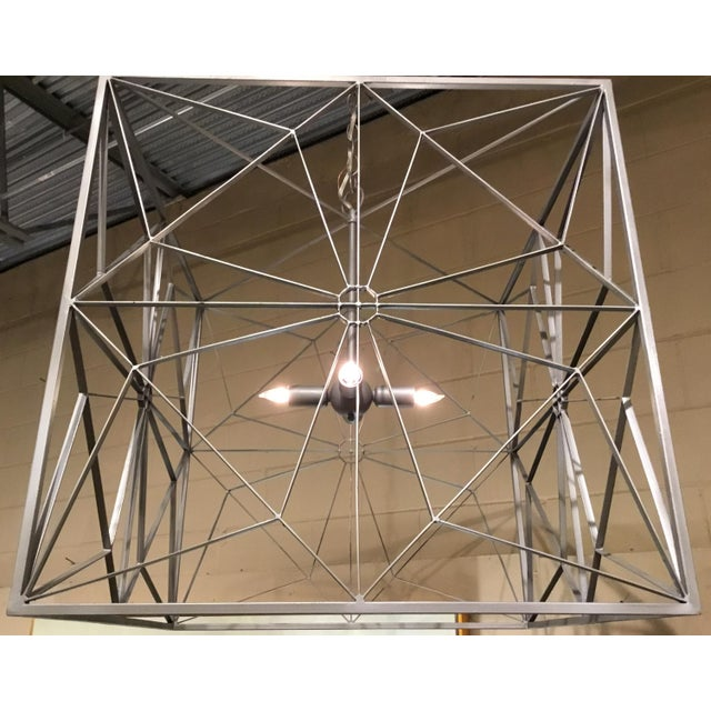 Industrial Currey & Co. Asanoha Chandelier For Sale - Image 3 of 5