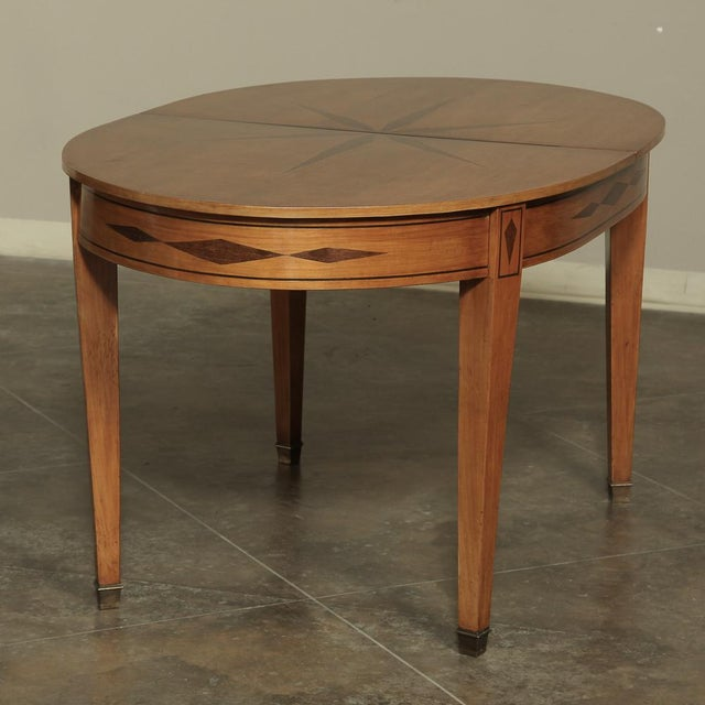 Mid-Century French Directoire Style Inlaid Table For Sale - Image 10 of 13