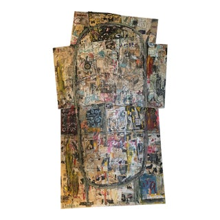 6ft Tall Collage on Wood & Canvas by Joe Strasser For Sale