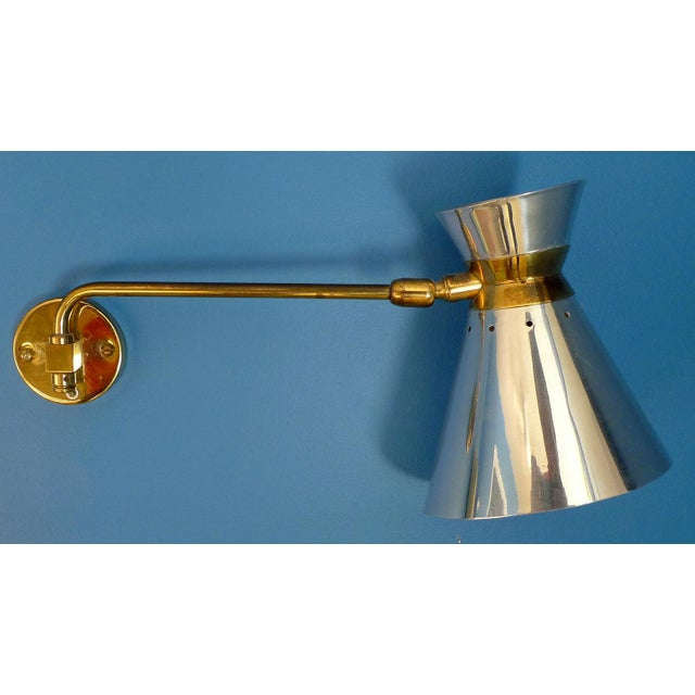 Pierre Guariche Style Adjustable Wall Sconces - A Pair - Image 5 of 9
