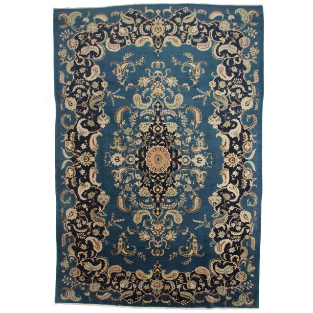 Antique Hand Knotted Persian Rug - 9′5″ × 13′7″ For Sale