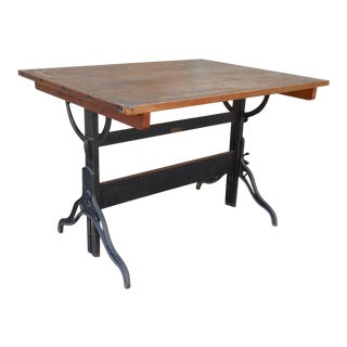 Vintage L. M. Prince Co. Drafting Table