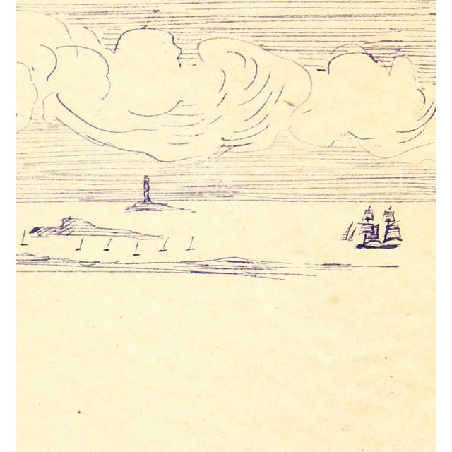 Vintage Ink Drawing - Bay Islands, C. 1910 - Image 2 of 3