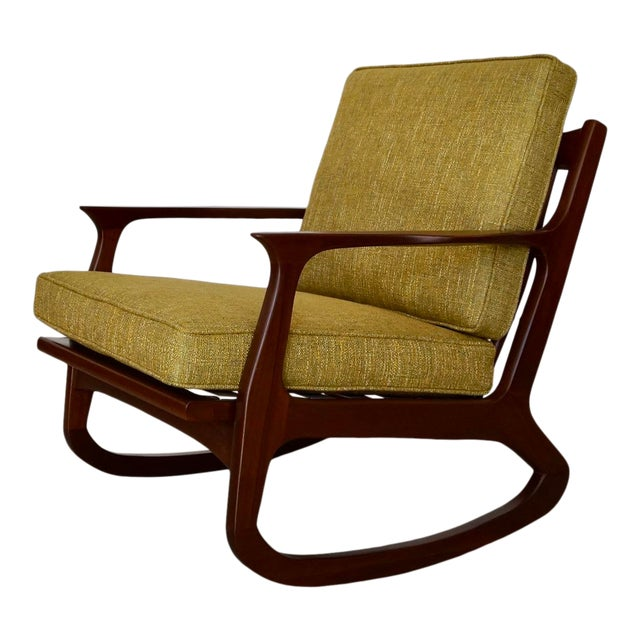 Danish Modern Ib Kofod Larsen Rocking Chair For Sale