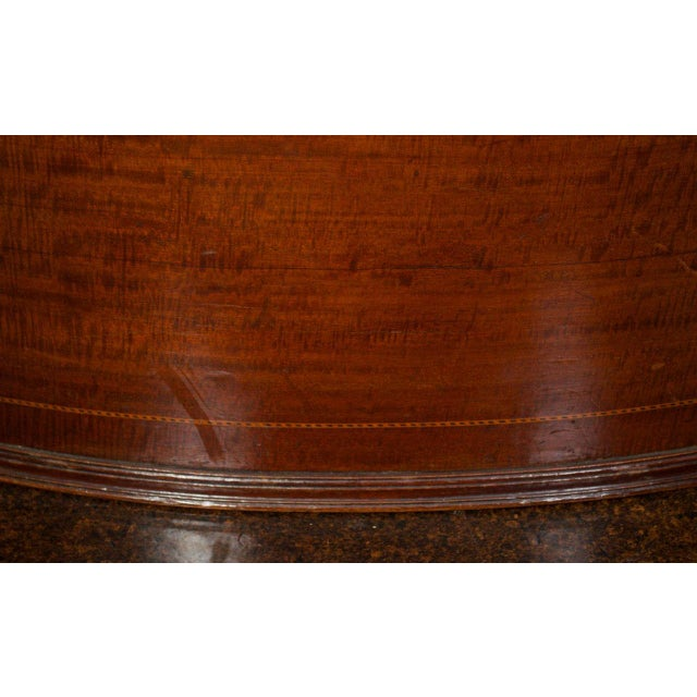 Wood Mahogany Floor Planter with Inlay Banding For Sale - Image 7 of 7