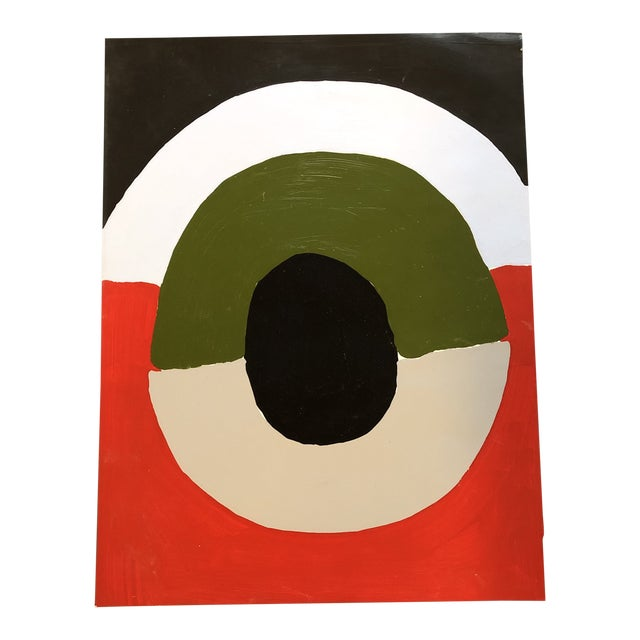Original Vintage Abstract Robert Cooke Painting Mid Century For Sale