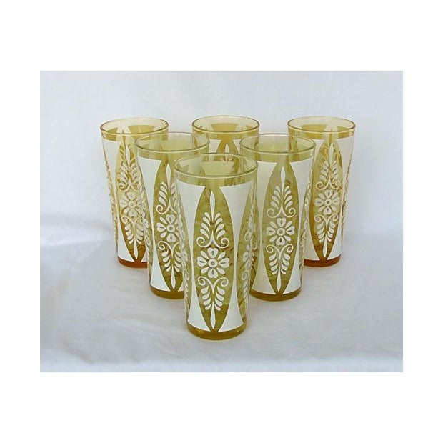 1960s Golden Amber Tumblers - Set of Six - Image 2 of 5
