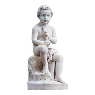 Marble Garden Figure by Benjamin Spence For Sale