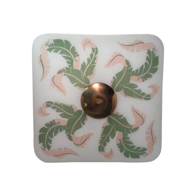 Scrolled Leaf Frosted Ceiling Shade - Image 1 of 7