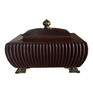 1900s Traditional Maitland-Smith Mahogany Wood Box