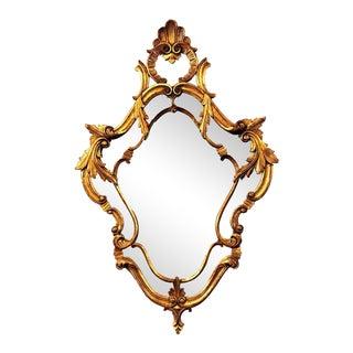 Wonderfully Carved Shell and Leaf Design Italian Mirror