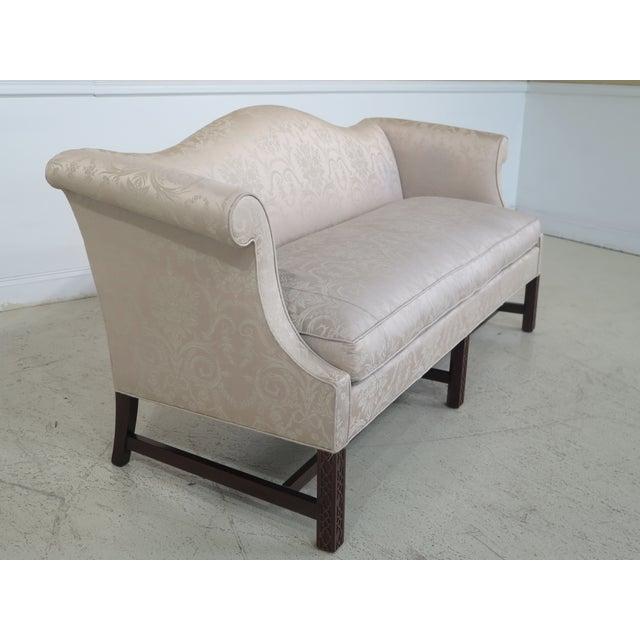 Hickory Chair Co Camelback Mahogany Chippendale Sofa