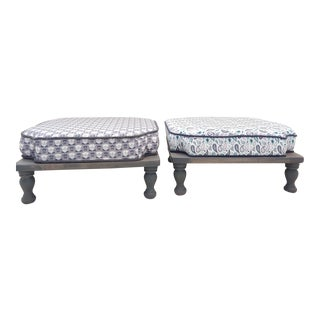 Mid-Century Modern Stacking Footstools - A Pair