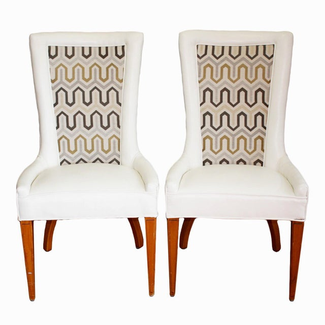 1930s French Art Deco Chevron Side Chairs - a Pair For Sale - Image 13 of 13
