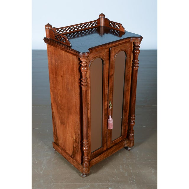 Antique Carved Mahogany Music Cabinet - Image 2 of 10