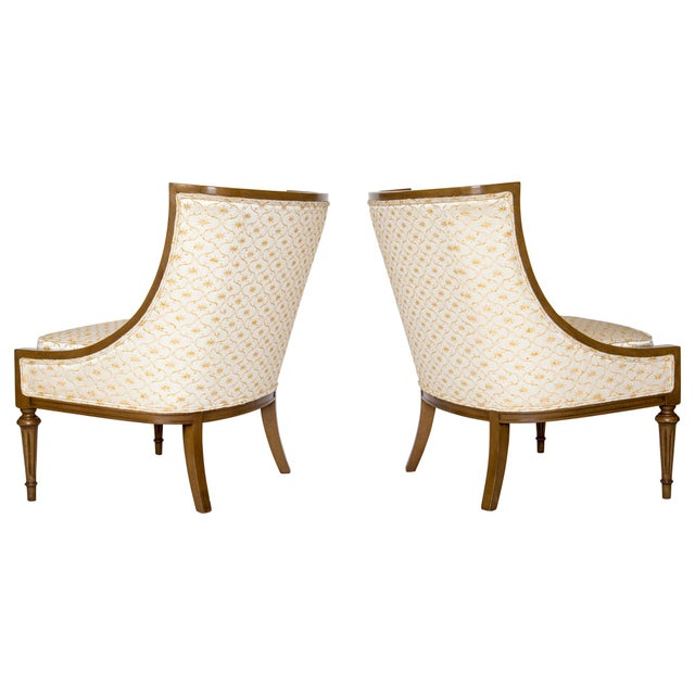 Slipper Chairs by Hibriten, A Pair - Image 3 of 10