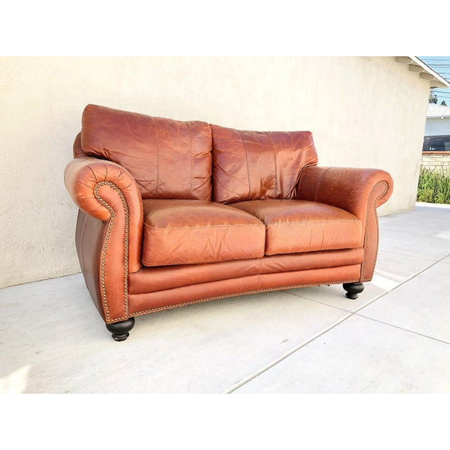 1960s Vintage Rapallo Italian Leather Sofa For Sale - Image 5 of 8