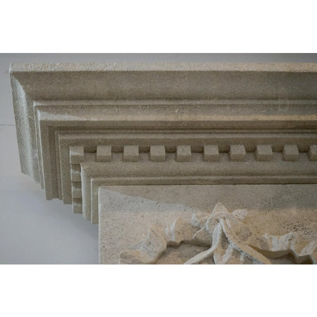 Stone Hand Carved Mantel with Trumeau For Sale - Image 7 of 8