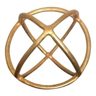Gold Round Decorative Sculpture