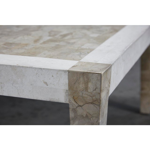 Modern 1990s Postmodern Dual Color Tessellated Stone Cube Square Coffee Table For Sale - Image 3 of 13
