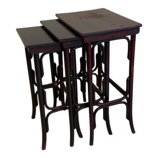 Thonet Bentwood Nesting Tables - Set of 3 For Sale