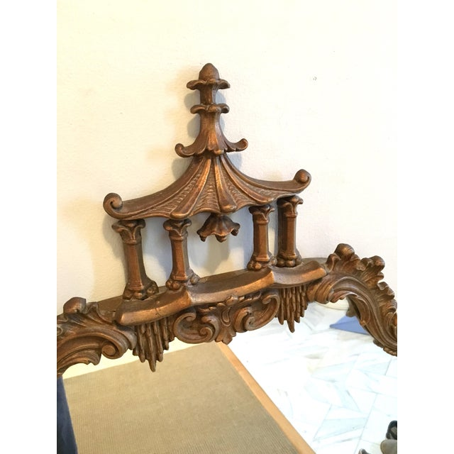 Asian Vintage LaBarge Style Chinoiserie Chippendale Pagoda Bell Mirror For Sale - Image 3 of 11