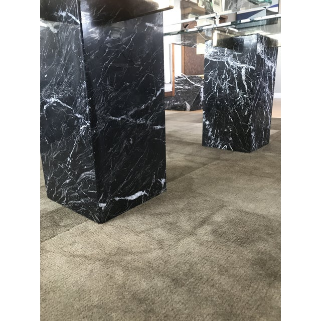Artedi Nero Marquina Marble Side Tables - A Pair For Sale - Image 5 of 10