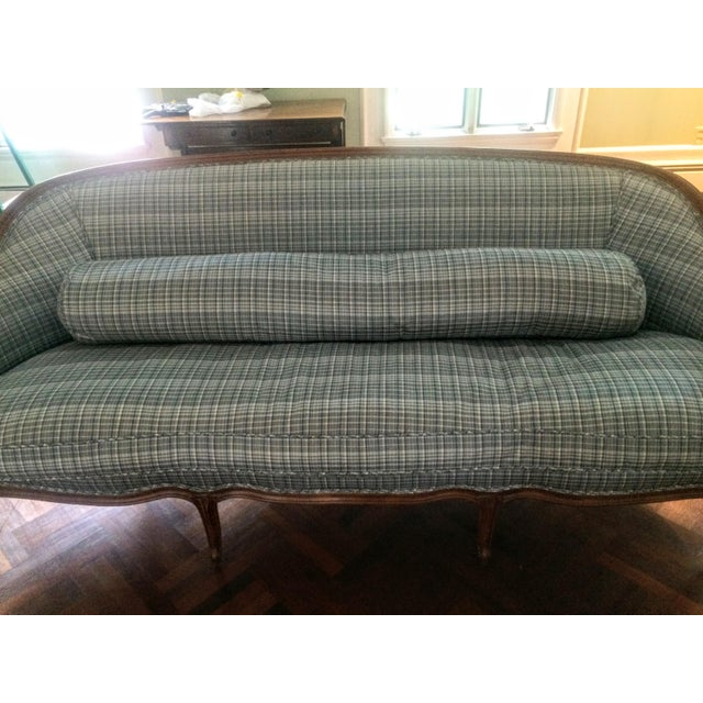 Vintage French Louis XV Style Wood Frame Sofa by Meyer Gunther Martini - Image 10 of 11