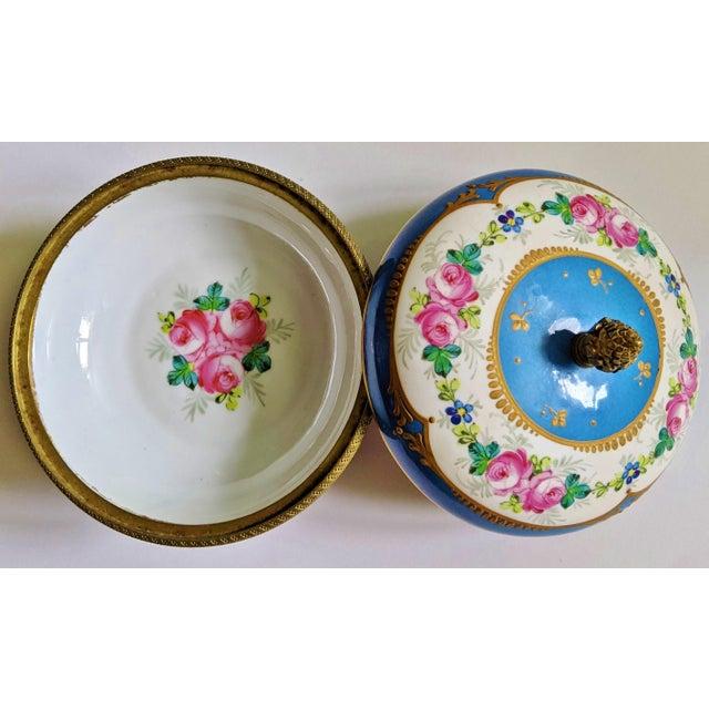 Manufacture de Sevres Antique French Gilt Bronze & Porcelain Sevres Jewelry Box / Potpourri For Sale - Image 4 of 13