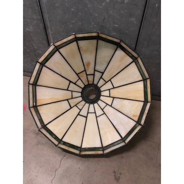 Glass Mission Slag Arts & Crafts Spectrum Glass Lamp Shade For Sale - Image 7 of 12