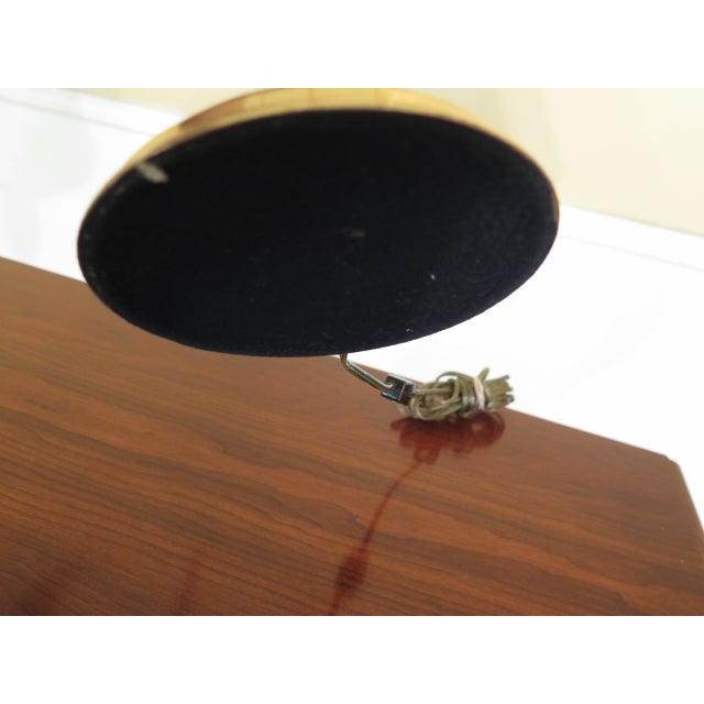Hollywood Regency Brass Double Candelabra Trumpet Arm Desk Lamp For Sale - Image 3 of 9