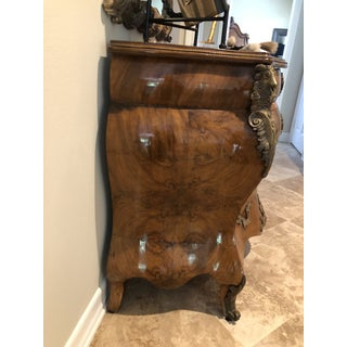 Antique Burl Wood Bombay Chest With John Richard Mirror Preview