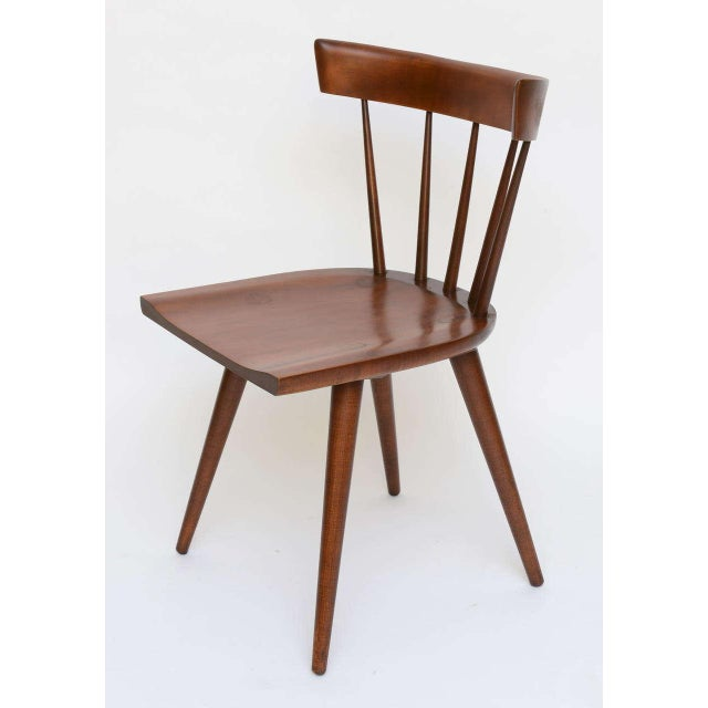 Single Paul McCobb Spindle Back Chair in Dark Maple - Image 4 of 9
