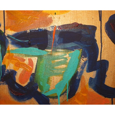 """Gold Painting, """"The Most Important Moment Is Now"""" - Image 3 of 3"""