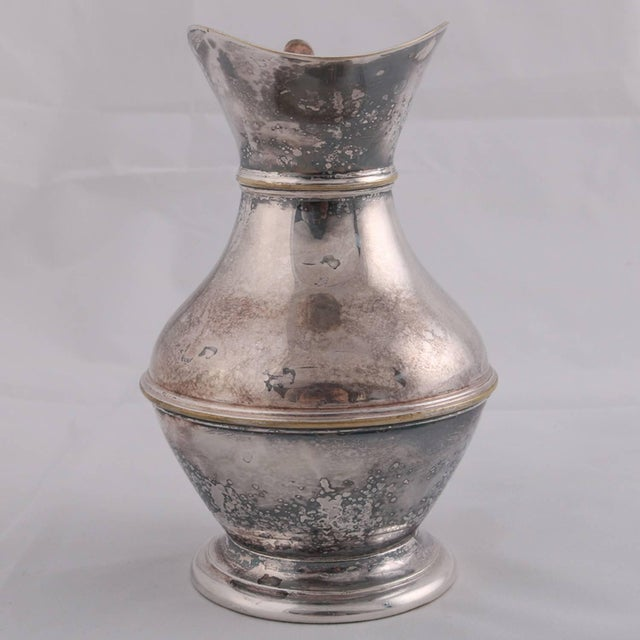 German Sterling Silver Georgian Style Pitcher 9.4 Toz Darmstadt, 19th Century For Sale - Image 12 of 13