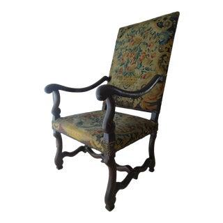 """17th Century Antique """"Os De Mouton"""" Armchair For Sale"""