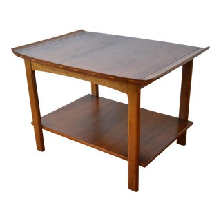 1960s Mid-Century Modern Lane Curved Edge Side Table For Sale