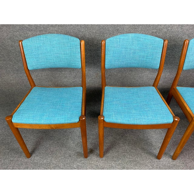 1960s 1960s Vintage Poul Volther Danish Modern Oak Dining Chairs- Set of 4 For Sale - Image 5 of 11
