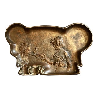 19th C. Bronze Cigar Tray Ashtray For Sale