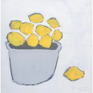 """Lemons"" Contemporary Abstract Painting by Sarah Trundle For Sale"