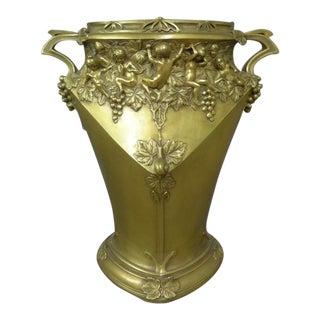 Jules Jouant Art Nouveau Vase For Sale