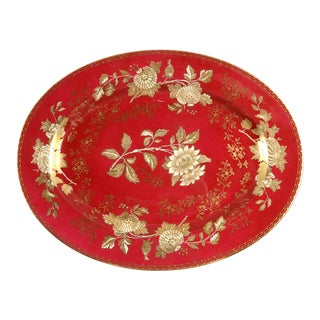 "Wedgwood Tonquin Ruby 15"" Oval Serving Platter For Sale"
