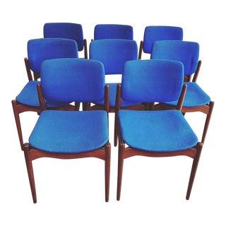 Mid-Century Danish Modern Erik Buck Dining Chairs - Set of 8 For Sale