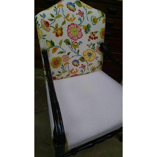 Vintage French Floral Accent Chair - Image 6 of 8