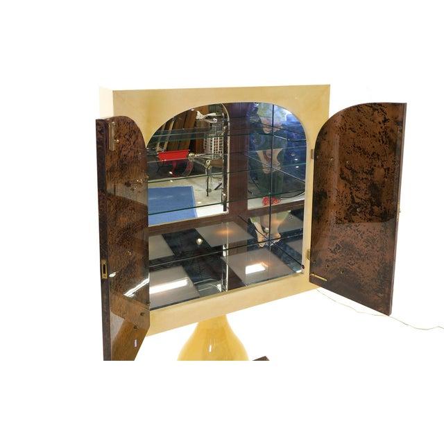 Stunning Aldo Tura Lighted, Locking Bar Cabinet or Liquor Cabinet For Sale - Image 9 of 12