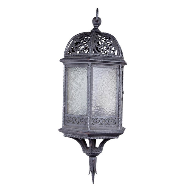 Early 20th Century Vintage Wrought Iron Lantern For Sale - Image 5 of 5