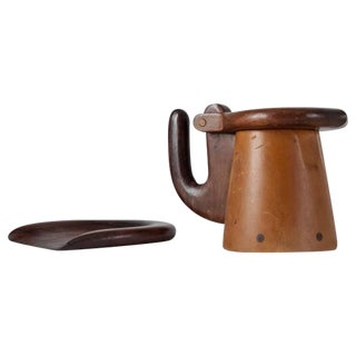 Max Méder Wooden Bowl and Pitcher, France, circa 1960 For Sale